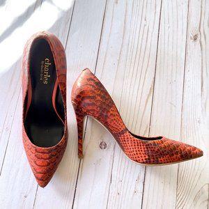 Snakeskin Pumps Heels